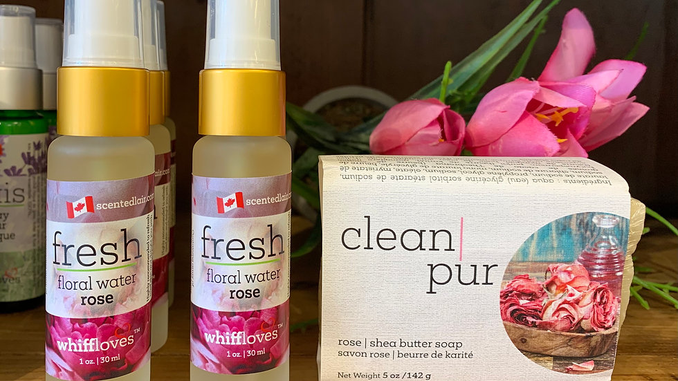 CLEAN sets bar soaps & floral water