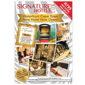 Signature Lux Hotel Cape Town Newspaper advert