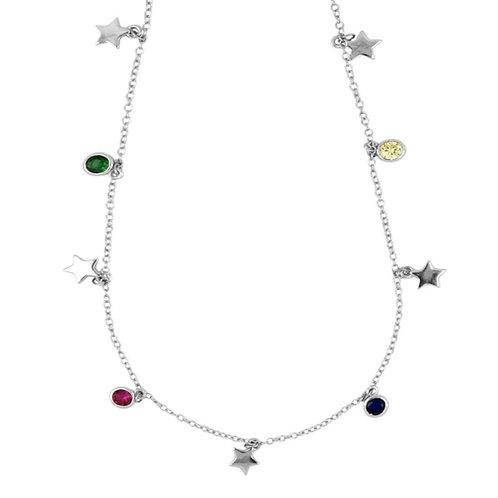 colgante charm estrellas y colores(plata de ley)