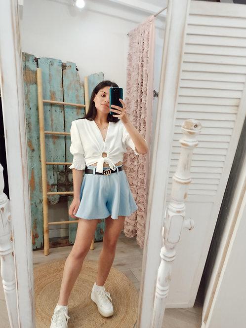 short Prusia azul + cinturon