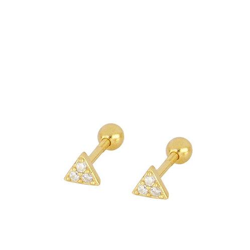 triangulo circón piercing (unidad)
