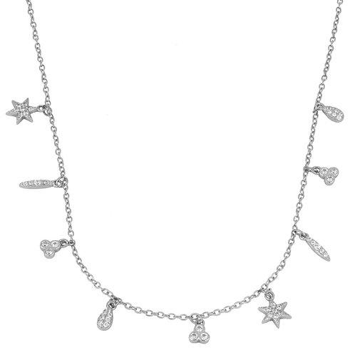 colgante abalorios (plata de ley)
