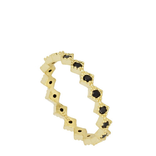 ANILLO BLACK AND GOLD