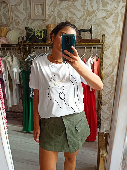 falda pantalón caqui