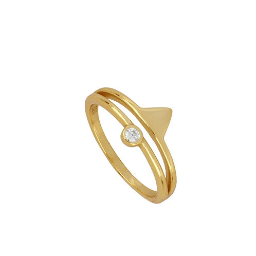 ANILLO DUO CIRCON GOLD