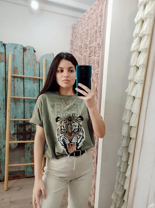 camiseta Wild verde