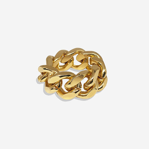 Bague cuban link gold