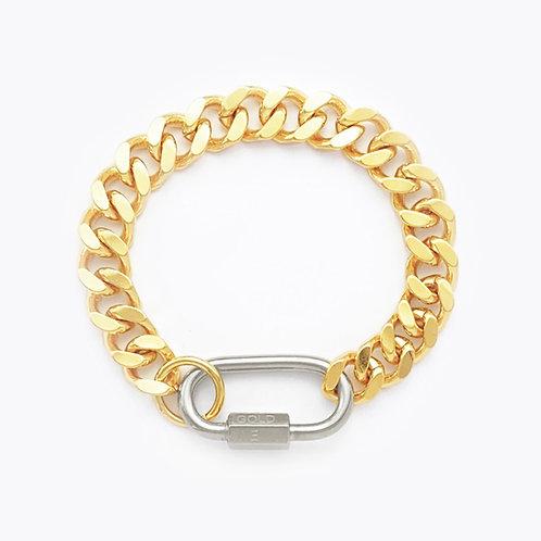 Bracelet cuban link gold