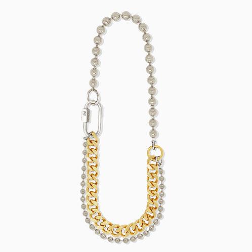 Collier cuban link gold et chaine boule