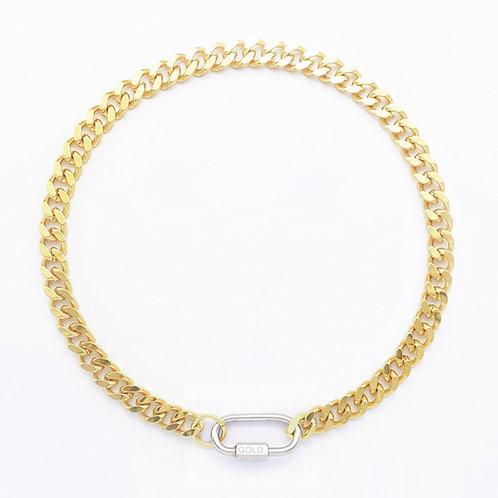 Collier cuban link gold