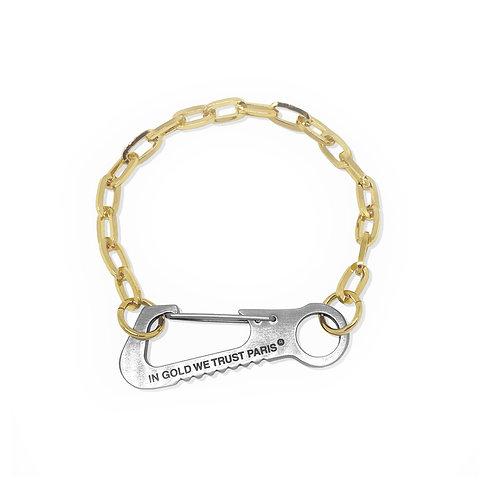 Carabiner Bracelet gold