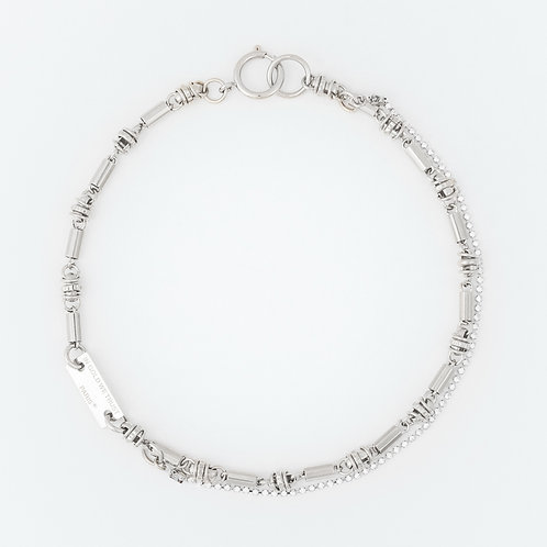 Necklace - hippie chain and rhinestones - palla