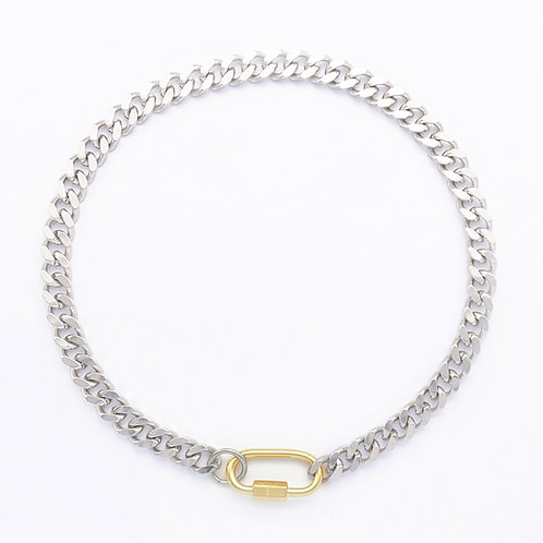 Collier cuban link palladium