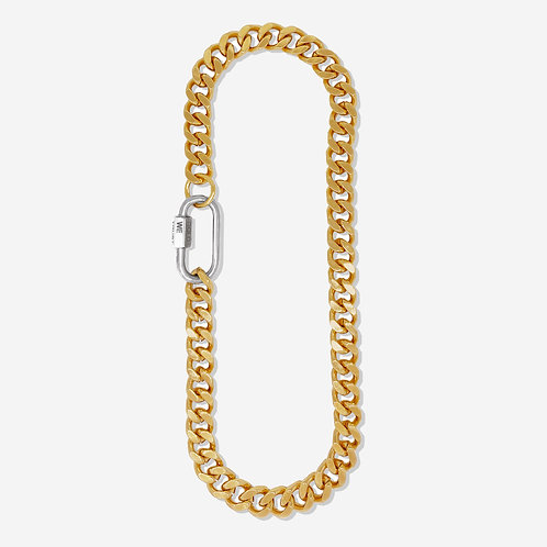 Collier cuban link gold