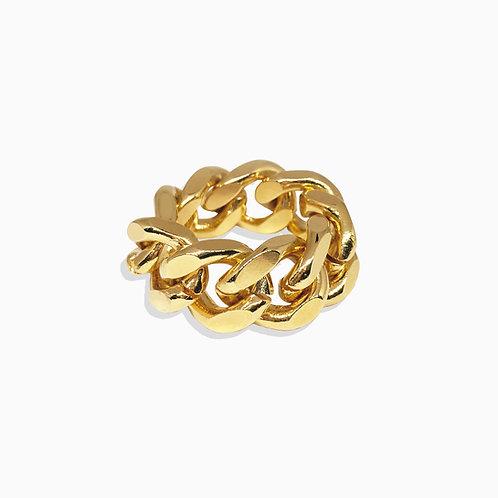 Bague cuban link gold
