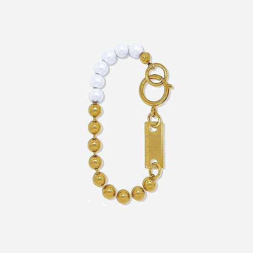 Bracelet chaine boules gold et perles