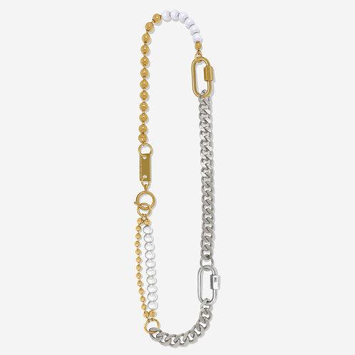 Collier mix 3 bracelets palladium