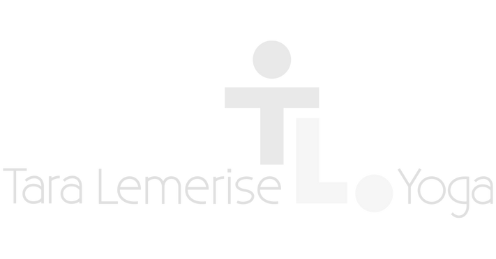 Tara Lemerise Yoga logo featuring name and TL letters