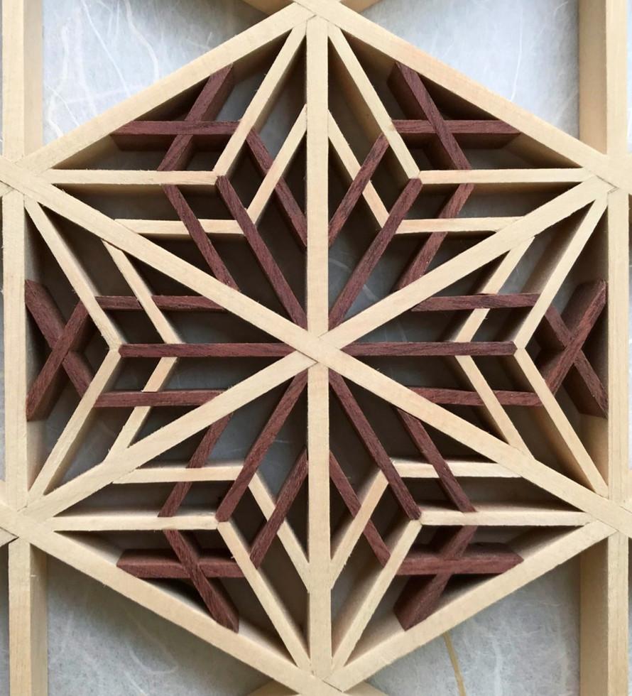 Kumiko wood panel #1
