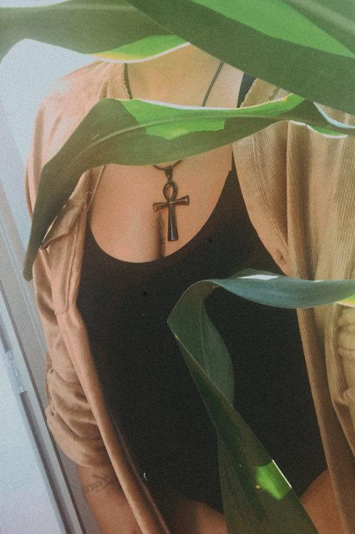 Black Ankh Necklace