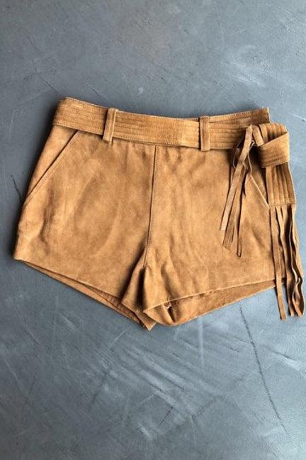 Free People Suede Brown Shorts Size Medium