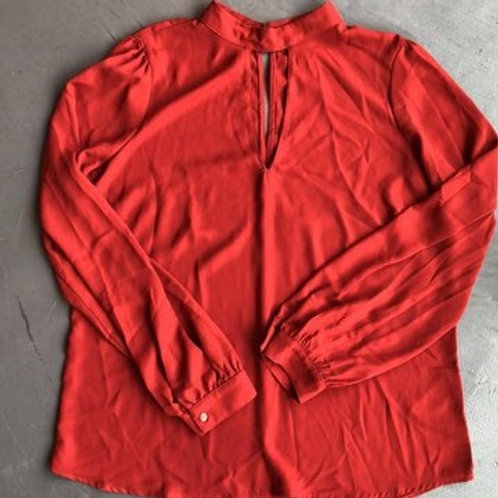 Forever 21 Rust High Neck Top Size Large