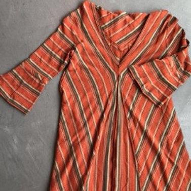 NWT Free People Orange Stripe Dress Size XS