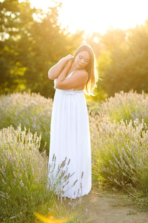 Wishlist White Boho Maxi Dress Size Large