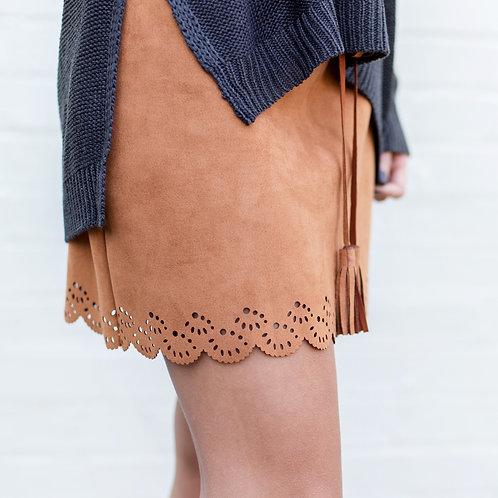 Sadie and Sage Suede Mini Skirt Size Medium