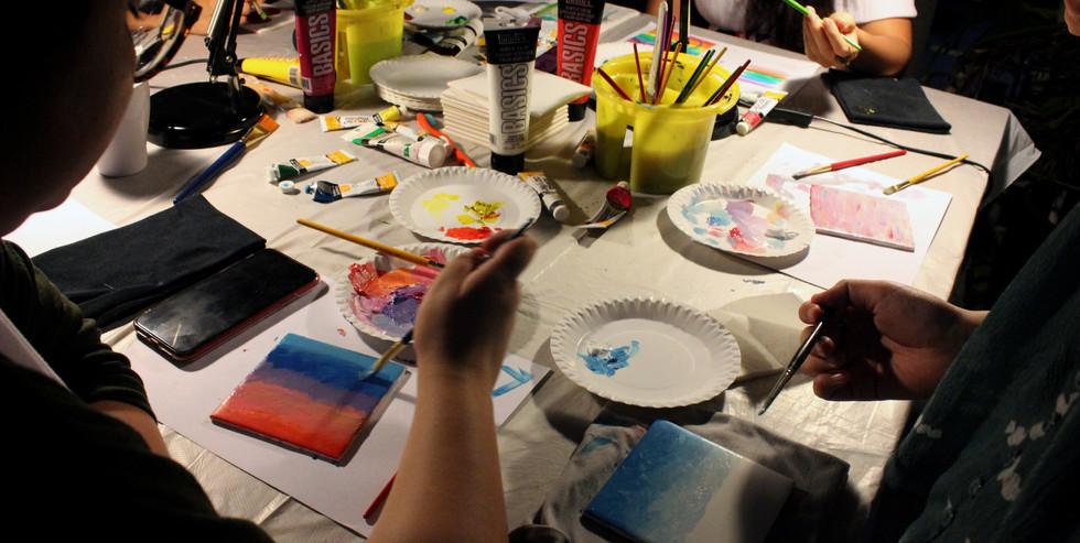 Makeshift Art Studio