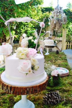 Fresh Flowers Woodland Cake