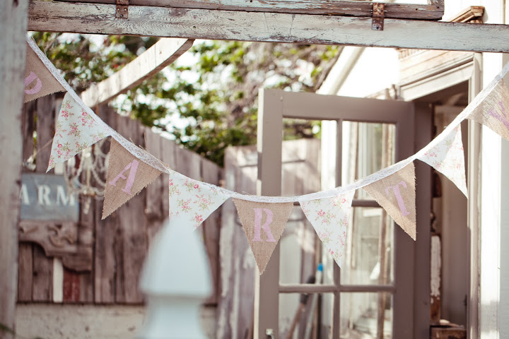 Handmade Party Banner In Farm