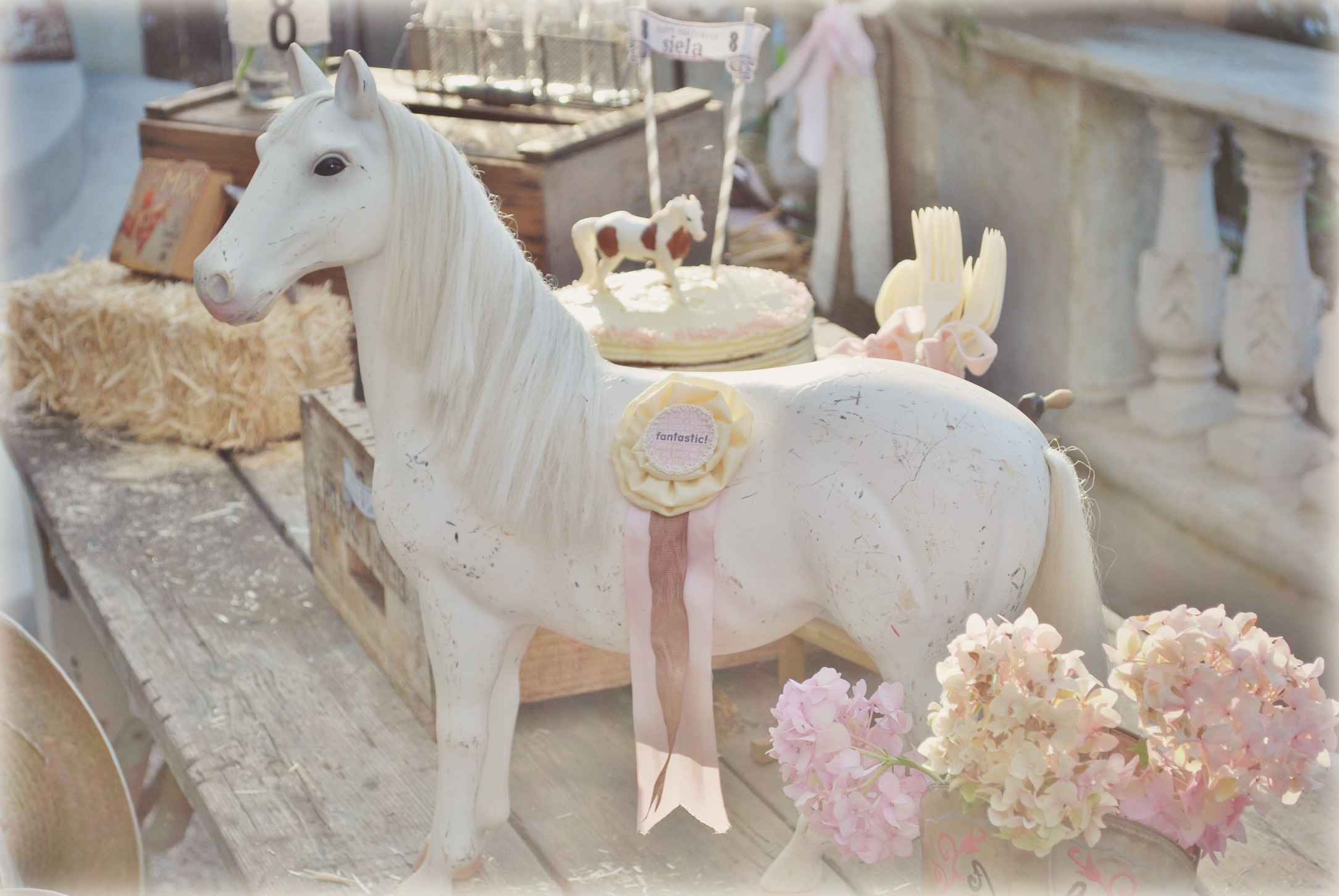 Vintage Model Horse with Show Ribbon