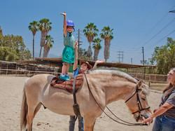 Cowgirl Stunts