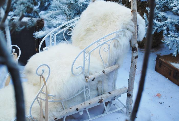 Cozy Faux Fur Sleigh