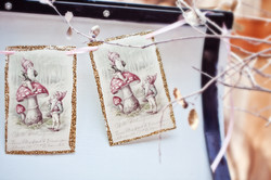 Gnome Bunting On Sleigh
