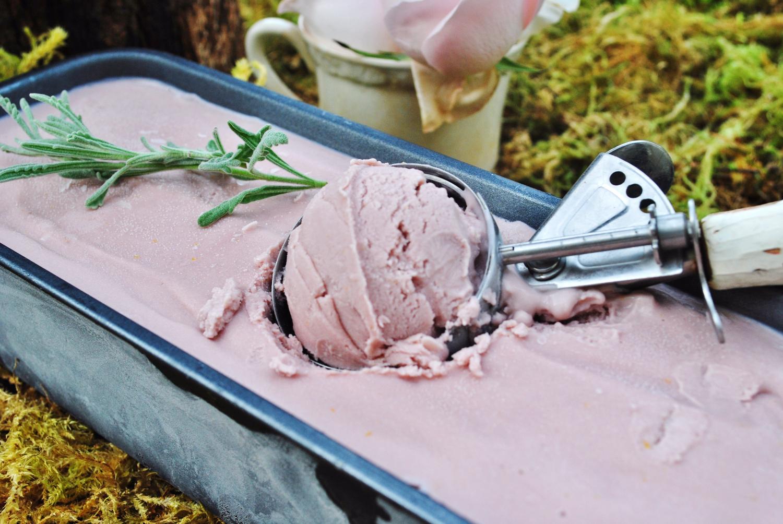 Hand Churned Lavendar Ice Cream