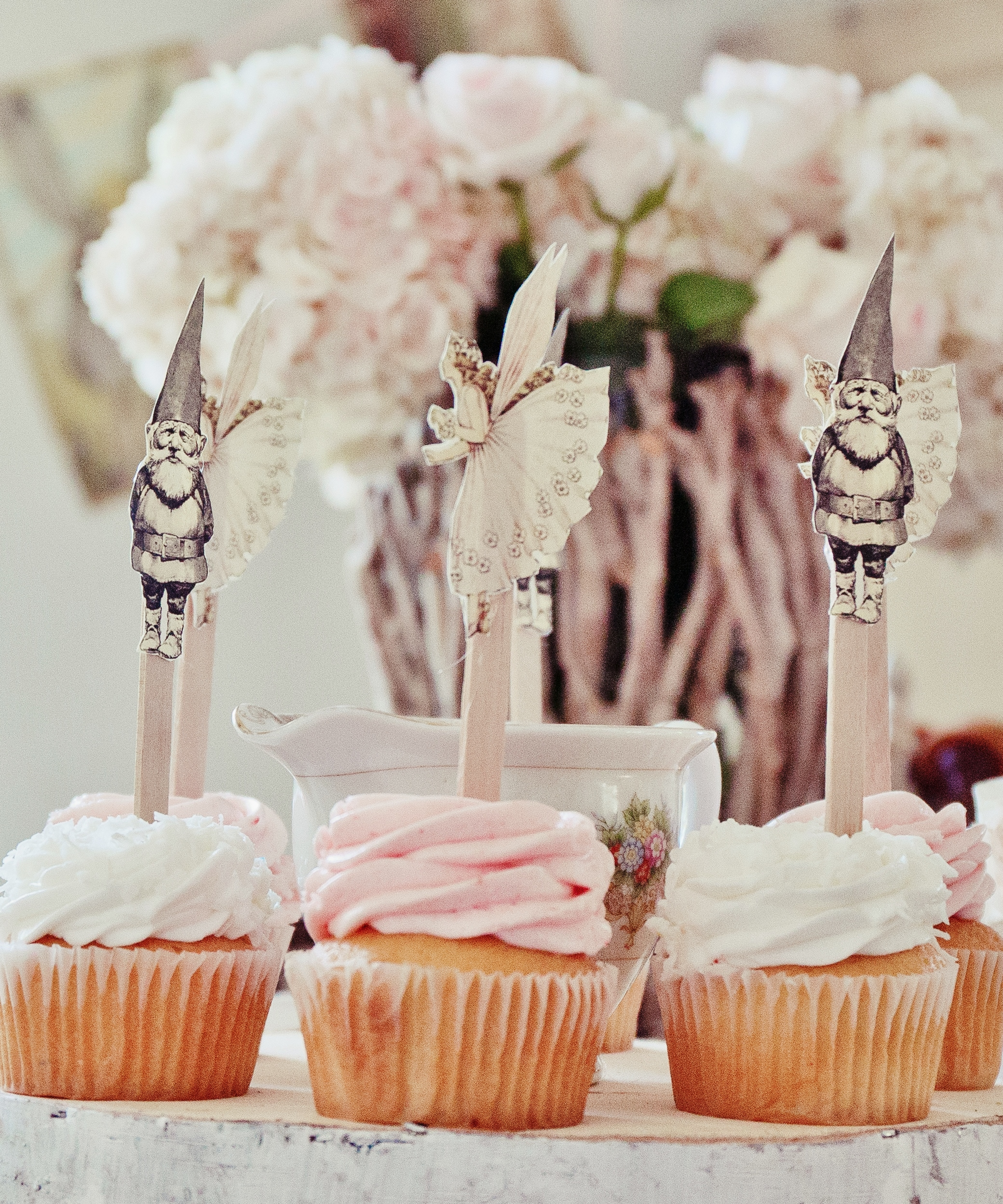 Fairy & Gnome Cupcakes Toppers