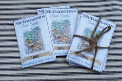 Hand Printed Seed Packets