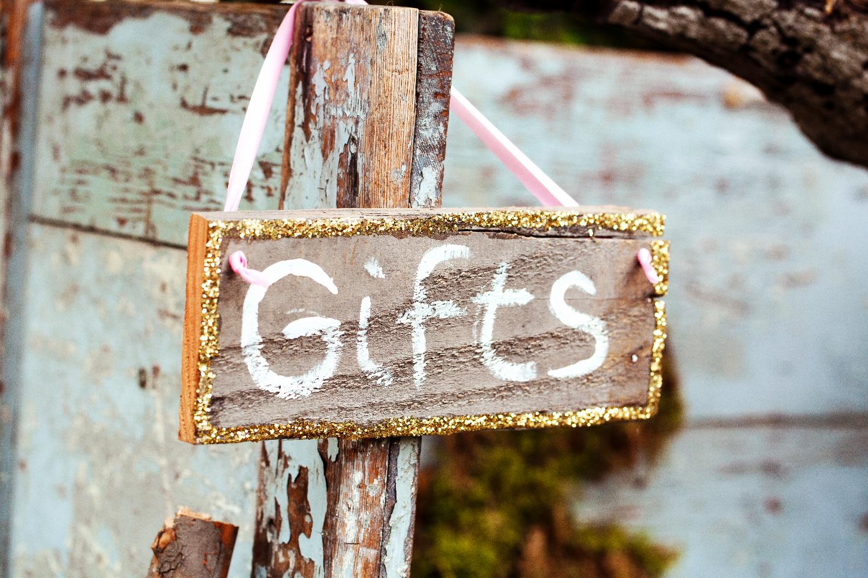Glittered Gift Table