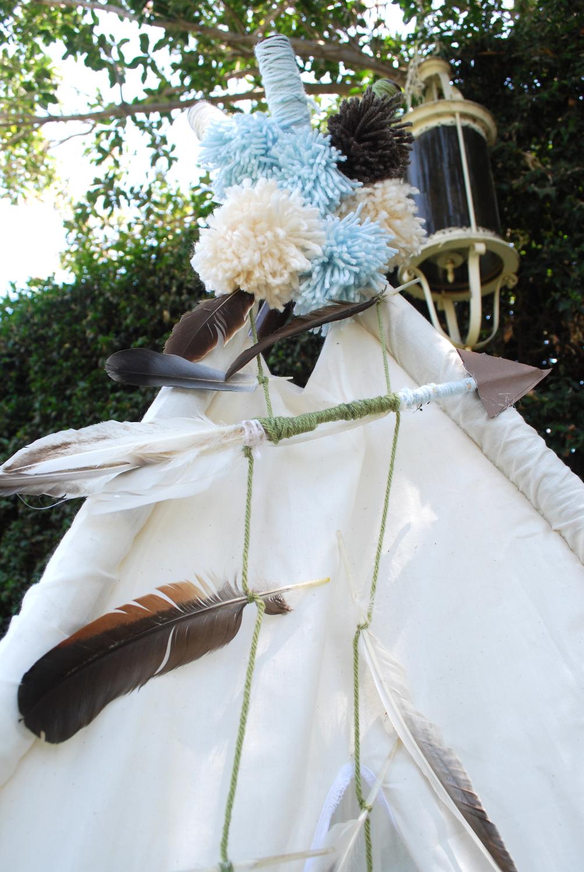 Handmade Teepee Arrows & Poms