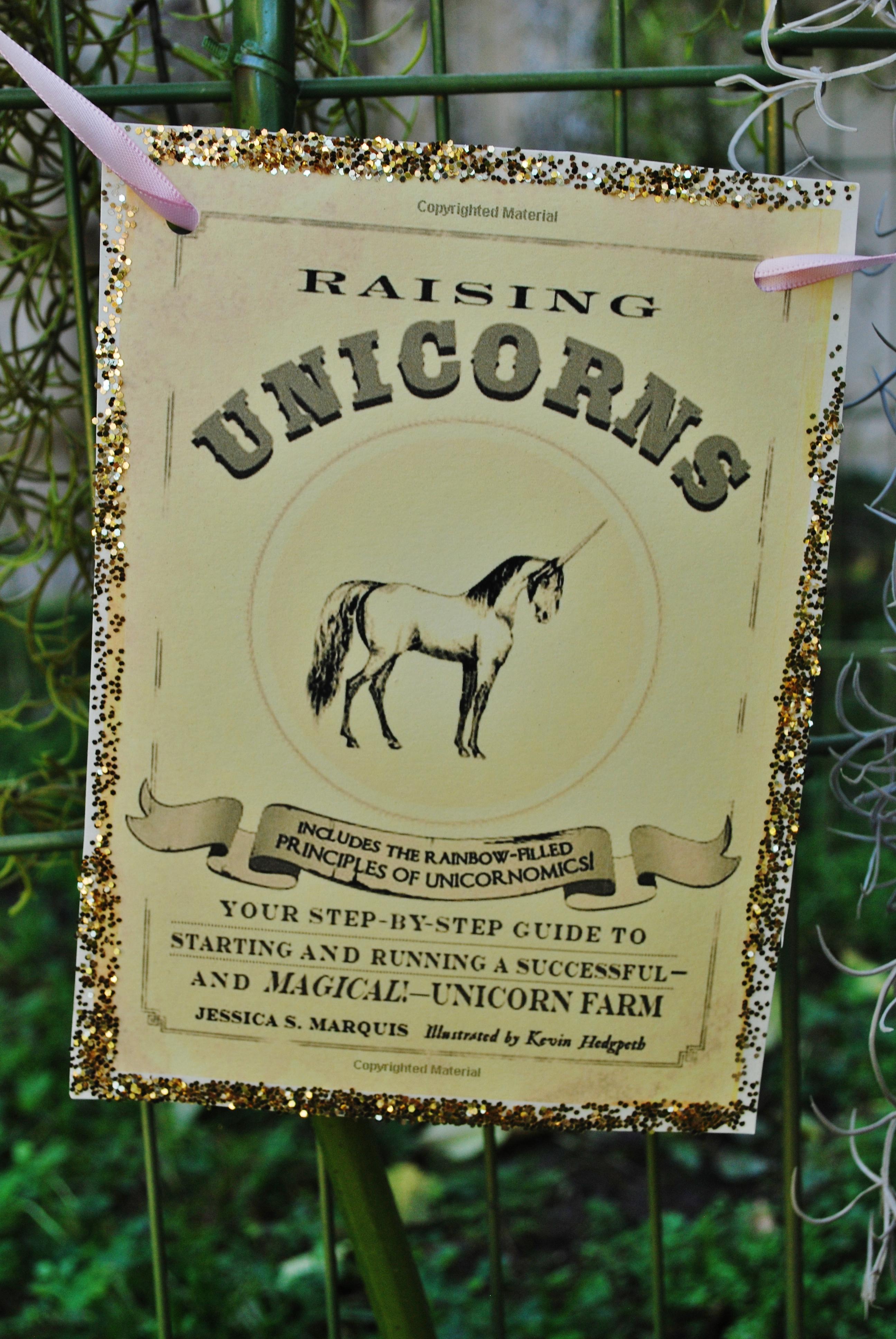 Glittered Unicorn Bunting