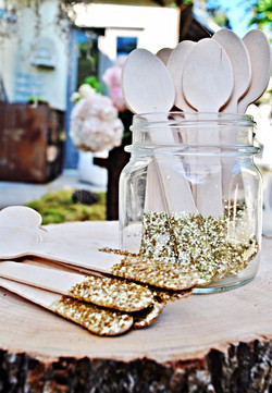 Hand Glittered Spoons