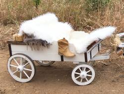 Farm Wagon Faux Fur Seats