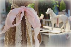 Burlap with Lace & Pale Pink Velvet