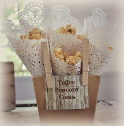 Toffee Popcorn In Lace Cones