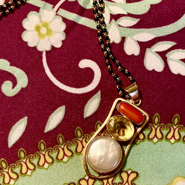 Jyotish Pearl, Yellow Sapphire, and Red Coral