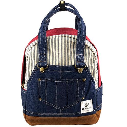 日本Qminica可愛牛仔布雙肩背囊 | 書包