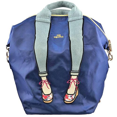 日本 Mis zapatos 3合1高跟鞋刺繡背包