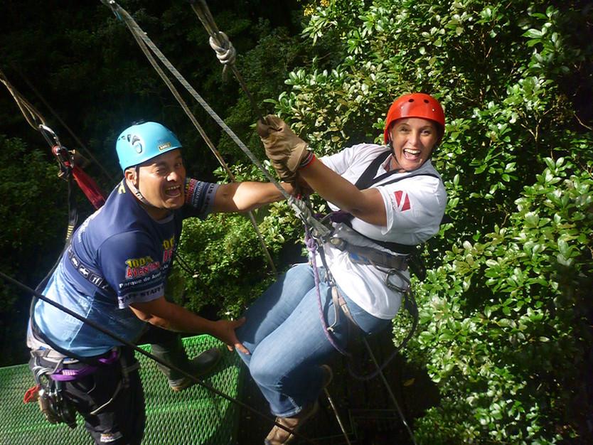 Jungle Surfing in Costa Rica - Longest Zip-line in Latin America... woo hoo!